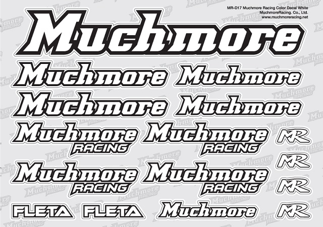 Muchmore MR-D17 Muchmore Racing ロゴデカール:白