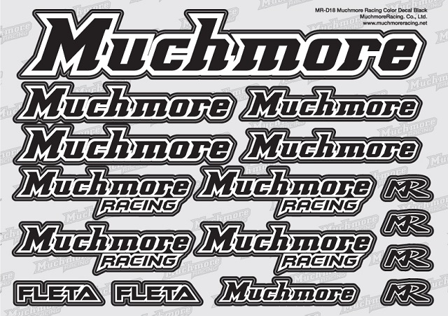 Muchmore MR-D18 Muchmore Racing ロゴデカール:黒