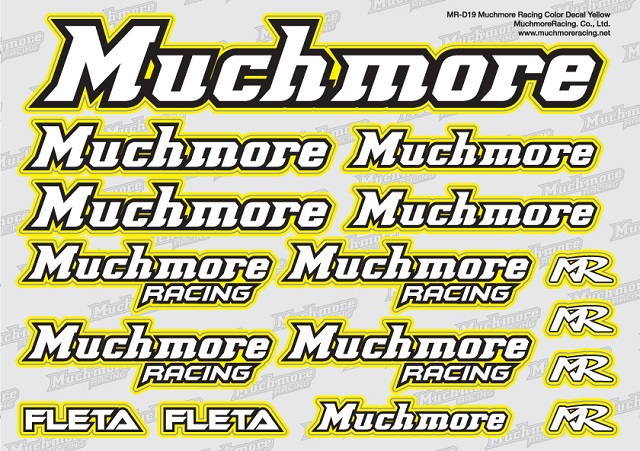 Muchmore MR-D19 Muchmore Racing ロゴデカール:イエロー