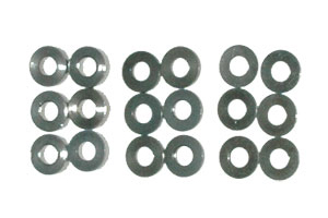 Schumacher U3131 SPEED PACK Alloy Spacers M3x7mm 0.5;1;2mm (pk18)