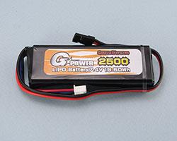 G☆STYLE GB20029 GP受信機用Li-Poバッテリー 7.4V 2500mAh ストレートタイプ SPECIAL VERSION