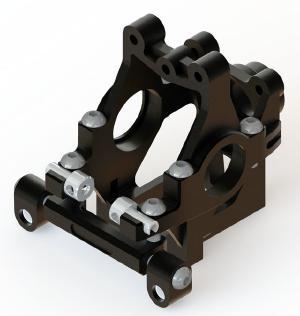 WRAP UP NEXT 0197-FD VX ギアバルクシステム Ver.2・ブラック【2.5/3mm ブッシュ付/FR-R/MR-D/NERVIS/ドリパケ対応】
