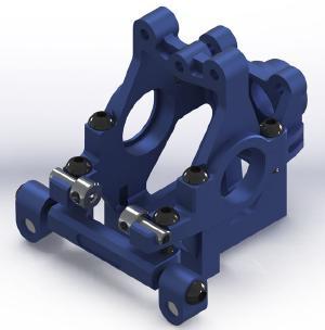 WRAP UP NEXT 0198-FD VX ギアバルクシステム Ver.2・ブルー【2.5/3mm ブッシュ付/FR-R/MR-D/NERVIS/ドリパケ対応】