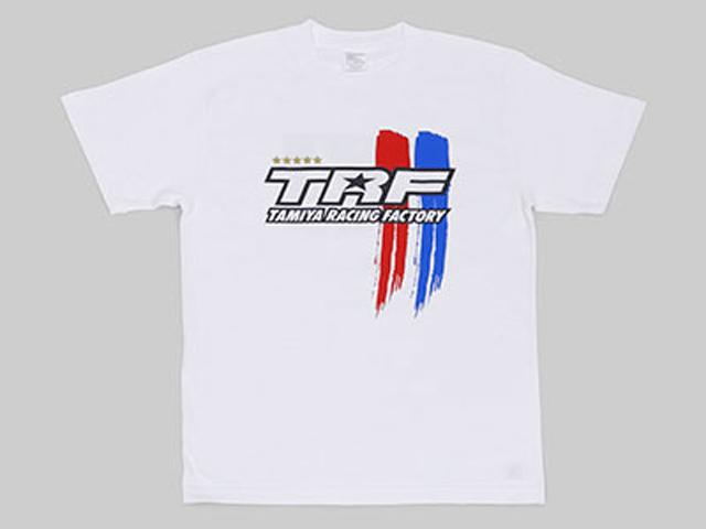TAMIYA 67243 タミヤレーシングファクトリー Tシャツ ストライプAタイプ(XL)ホワイト
