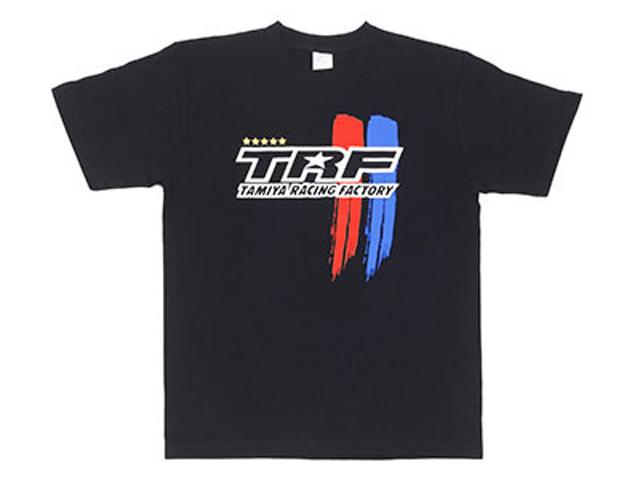 TAMIYA 67247 タミヤレーシングファクトリー Tシャツ ストライプAタイプ(XL)ブラック