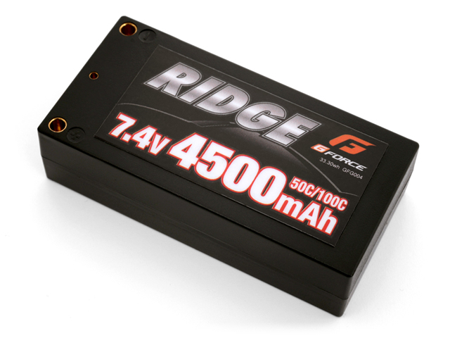 G-FORCE GFG004 RIDGE LiPo Battery 7.4V 4500mAh ショートタイプ(1Sサイズ)