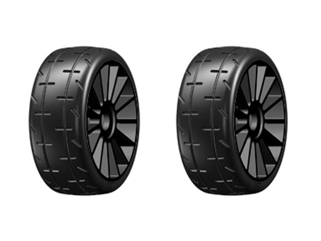 GRP GMX01-R1 1/8 GT M01 REVO R1 スポークホイール【2個入/ブラック/レイン】