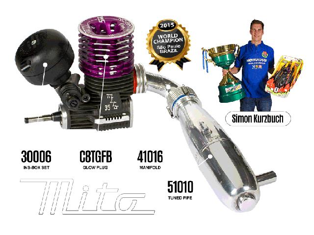 NOVAROSSI MITO-35WCS MITO 35 World Champion レーシングエンジン【前後セラミックベアリング仕様】