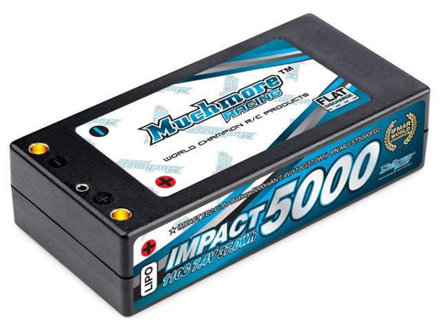 Mucmore MLI-ST5000FD2 インパクト FD2 Li-Poバッテリー5000mAh/7.4V 110C ショッティハードケース・ピン仕様