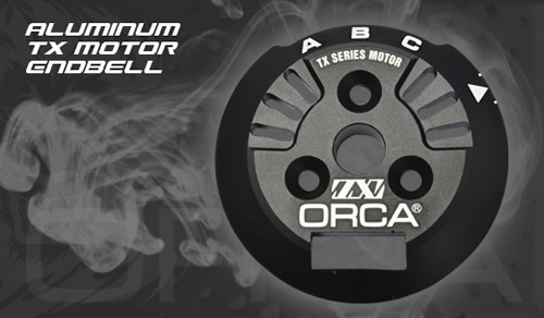 PROSPEC OME111TX ORCA TX用アルミエンドベル ブラック