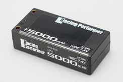 "YOKOMO RPB-50S レーシングパフォーマー""ウルトラ"" Li-po 7.4V 5000mAh 100C ショートサイズバッテリー(+5mm/-4mmコネクター仕様)"