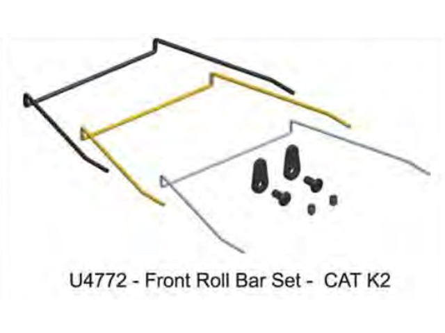 Schumacher U4772 Front Roll Bar Set - CAT K2