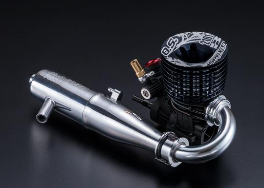 O.S.ENGINE 1A204 O.S.SPEED B2101/T2090SC マフラーマニ付バギー用エンジン