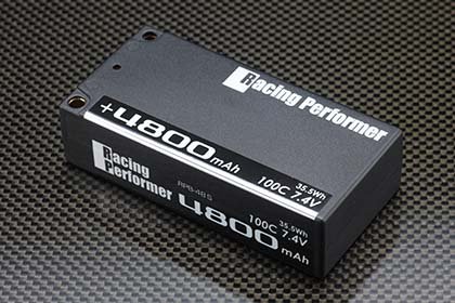YOKOMO RPB-48S レーシングパフォーマー Li-po 7.4V 4800mAh 100C ショートサイズバッテリー(+5mm/-4mmコネクター仕様)