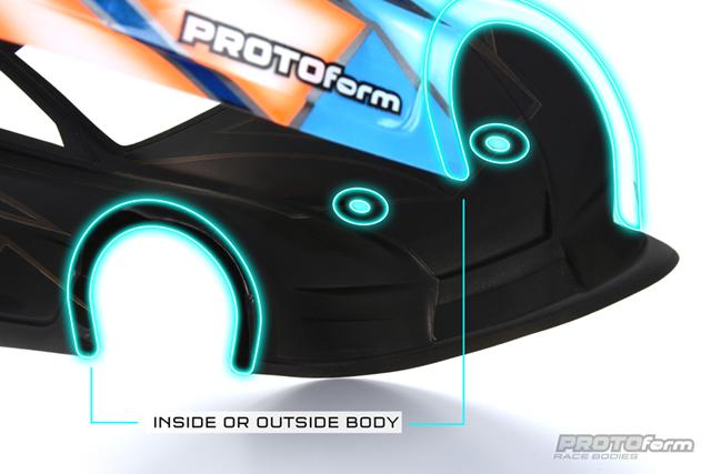 PROTOform 6290-01 1/10 フェンダー&ボディポスト プロテクター