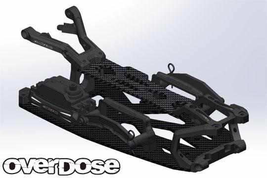 OVERDOSE OD2251 XEX カーボンシャーシキット/ ブラック