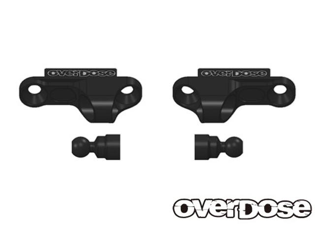 OVERDOSE OD2254 アルミショックアジャストブロック Type-2 /ブラック For OD