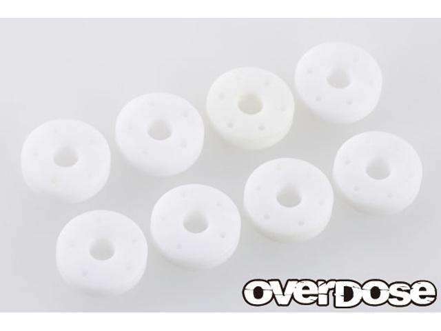 OVERDOSE OD2369 フッ素樹脂削り出しショックピストンセット (For OD・TRF/φ0.5x5/φ0.5x6/φ0.6x5/φ0.6x6)