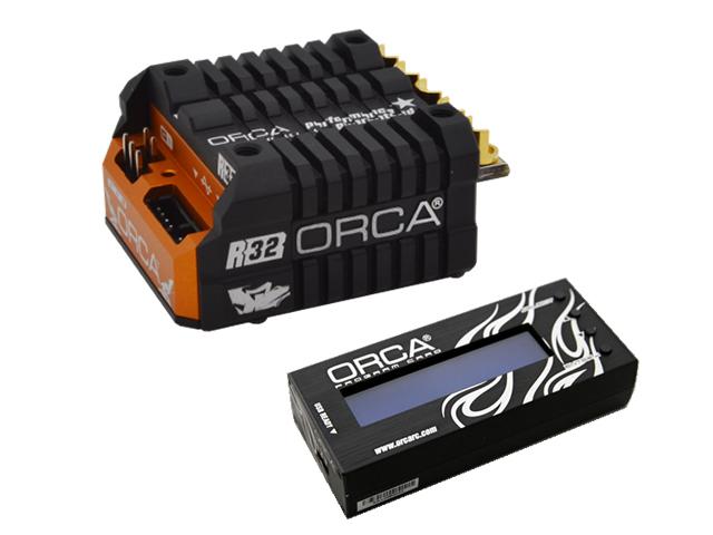 PROSPEC ORS833VG-PC ORCA VX3 R32 ESC【オレンジ&ブラック】&プログラムセッティングカードセット