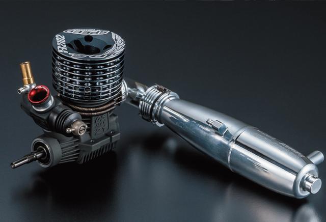 O.S.ENGINE 1A105 O.S.SPEED R2102/T2080SC マフラーマニ付き1/8レーシングエンジン