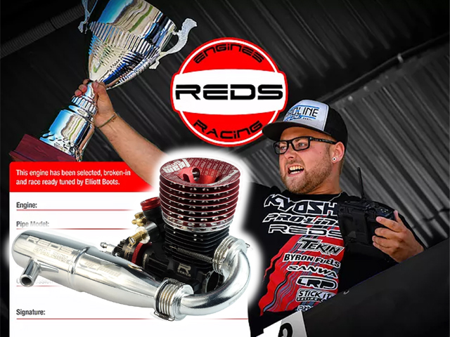 REDS R5TTEEBRCO R5TE TEAM Edition V4.0 バギー ブレークイン・プレラン レースレディマフラーマニ付バギー用エンジン