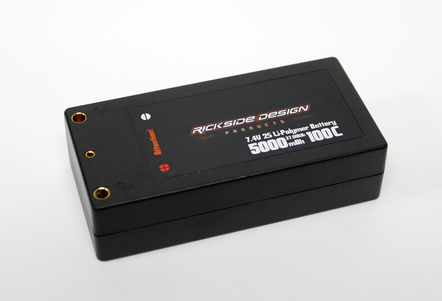 RICKSIDE DESIGN RSDP-DLP03 7.4V 5000mAh 100C SHORT PACK LIPO