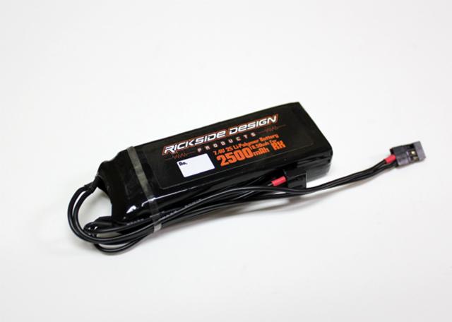 RICKSIDE DESIGN RSDP-RXP01 7.4V2500mAh受信機用LIPOバッテリー(フラットタイプ)
