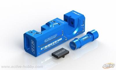 Active STR374B バルクヘッドセットアップブロック【ブルー/電動ツーリングカー/バルク幅20mm/22mm用】