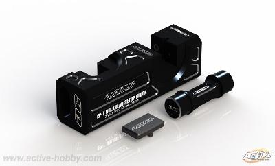 Active STR374BL バルクヘッドセットアップブロック【ブラック/電動ツーリングカー/バルク幅20mm/22mm用】