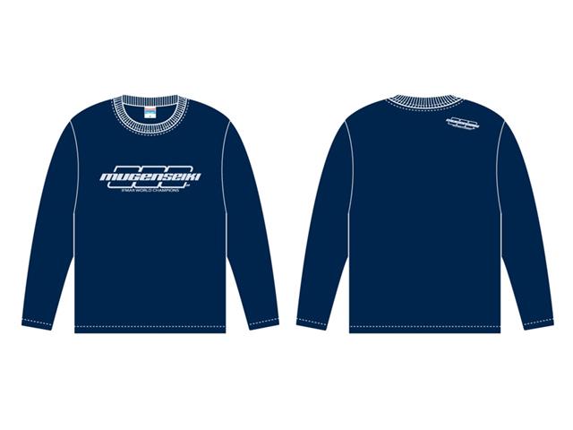 MUGEN P20222L 16 ムゲンロングTシャツ【L/ネイビーブルー】