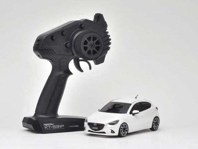 KYOSHO 32422WP マツダ デミオ XDツーリング スノーフレイクホワイトパールマイカ【ミニッツFWDシリーズ レディセット】