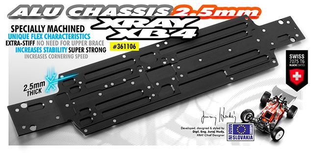 XRAY 361106 シャーシ【2.5mm/XRAY XB4 2018 Specs】