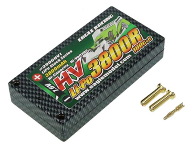 EAGLE RACING 3906HV1 Li-HVバッテリーEA3800R/7.6V 100C+αハードケース仕様