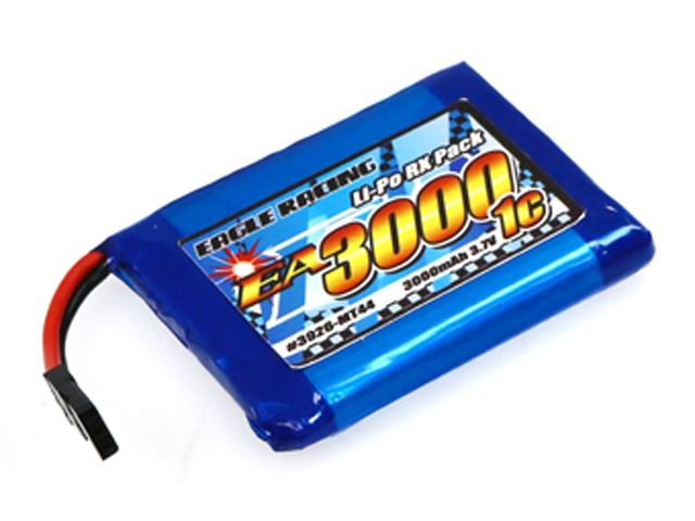 EAGLE RACING 3926-MT44 SANWA MT-44送信機用平型サイズLi-PoバッテリーEA3000/3.7V1C