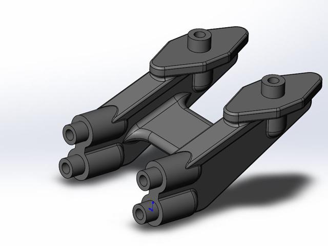 TEAM AJ 3D-B6WM-L アソシB6用ワンピースウイングマウント【ローマウント】