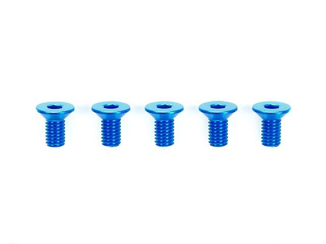 TAMIYA 42328 3x6mm ハイグレードアルミ六角皿ビス(ブルー・5本)
