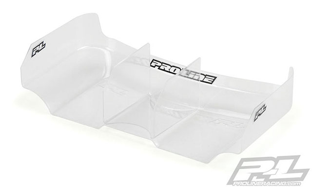 "PROLINE 6320-00 Air Force 2 Lightweight 6.5"" Clear Rear Wing with Center Fin"