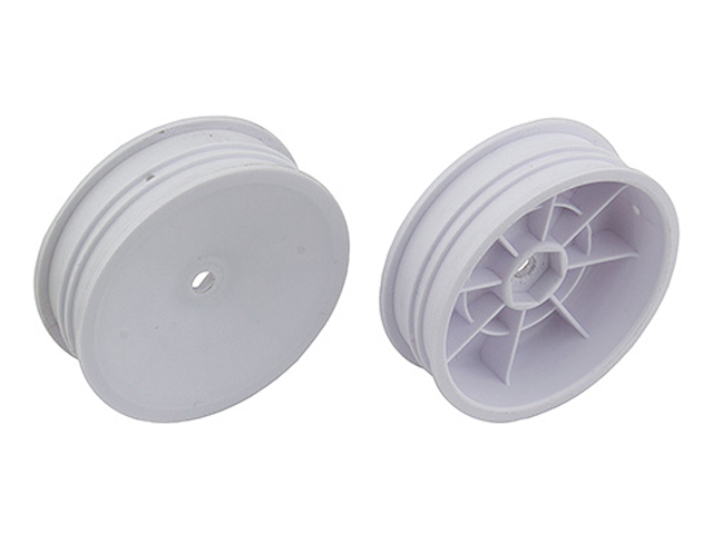 ASSOCIATED 91757 2WD Slim Front Wheels, 2.2 in, 12 mm Hex, white