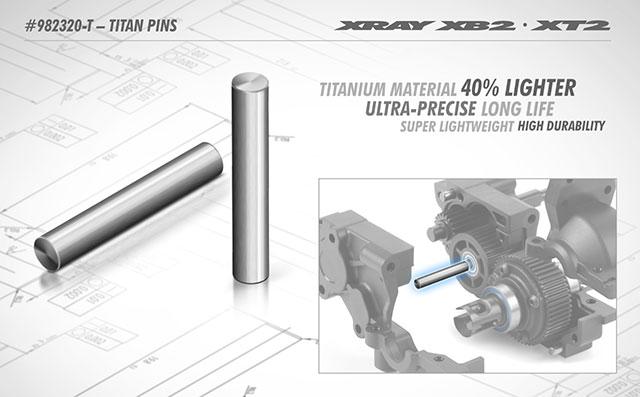 XRAY 980320 チタンピン【3X20/2pcs/XB2】