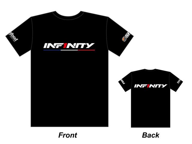 INFINITY A0053-XXL  INFINITY 2017 チームT シャツ(黒/ トリコロール) XXL サイズ