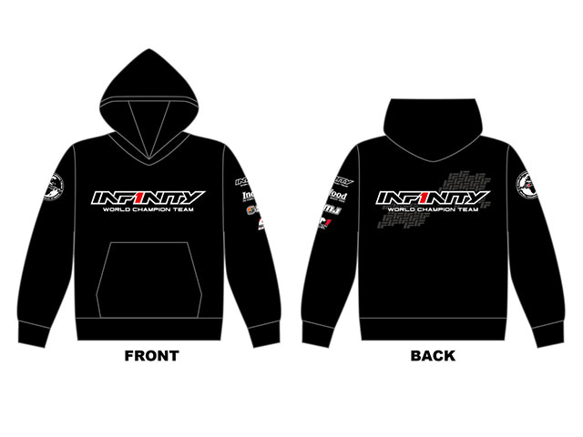 INFINITY A0055-M  INFINITY 2018チームパーカー (黒) Mサイズ