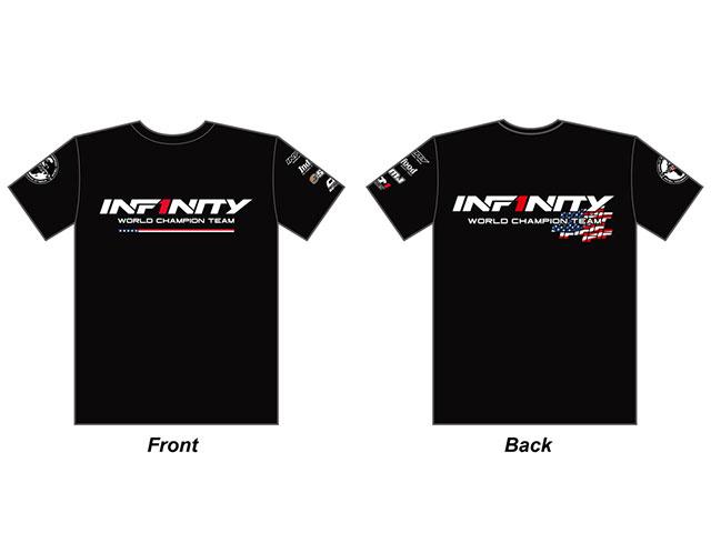 """INFINITY A0059-2XL INFINITY 2018 チーム """"U.S.A.""""T シャツ( 2XLサイズ/黒)"""