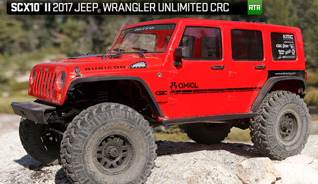 AXIAL AX90060 SCX10 Ⅱ Jeep Wrangler Unlimited CRC 1/10th 4WD – RTR