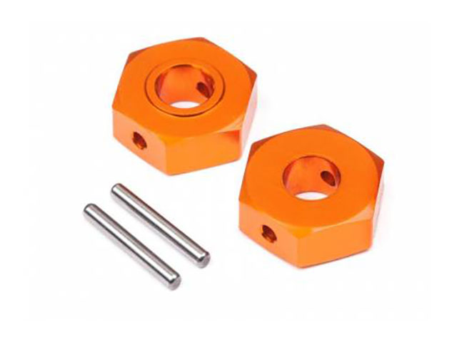 HB HB112746 ALUMINUM HEX HUB 12MM (REAR/2PCS)(D418)