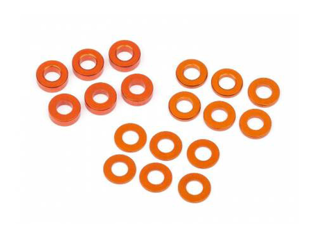 HB 112797 WASHER SET 3X6MM (0.5MM/1.0MM/2.0MM/ORANGE/6PCS/D216/D413)