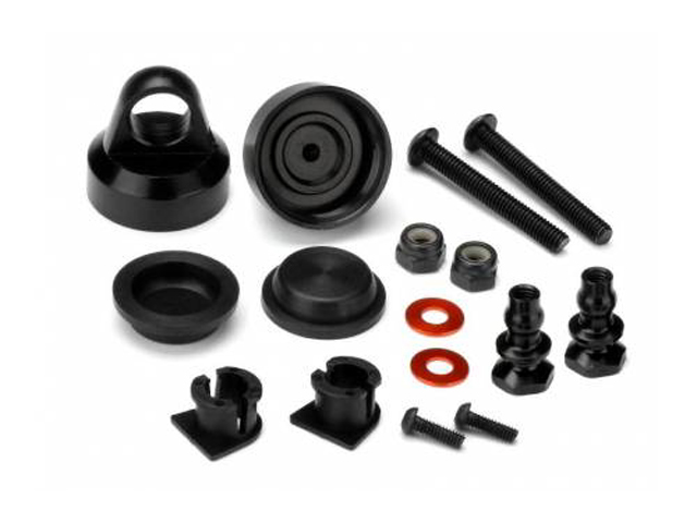 HB 114112 ALUMINUM SHOCK CAP (HARD ANODIZED/2pcs/D216/D413)