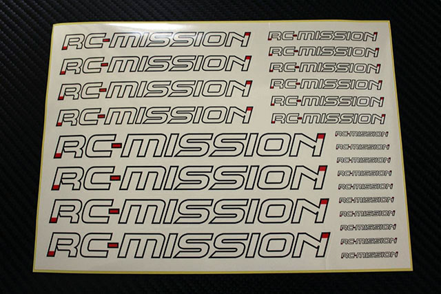 RC-MISSION MI-LDS  RC-MISSION ロゴデカールシート【カット済み/148x210mm】