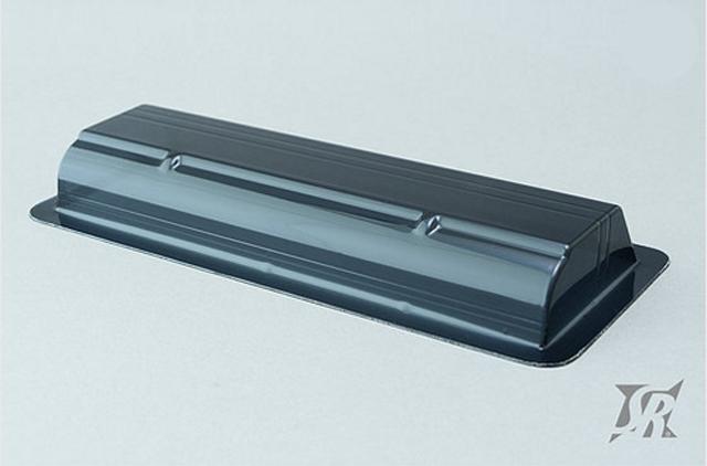 PROSPEC SD0027B スイープ190mm1/10ツーリングカー用高強度ワイドウィング 1mm厚/ブラック