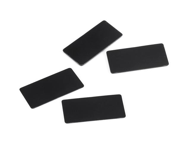 SMJ SMJ1141 1/10ツーリングカー用リアウイング翼端板(ブラック/0.8・0.5mm/各2枚入り)