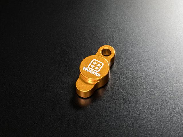 T4WORKS T4-OC01GD ビレットオイルフィラーキャップ【ゴールド】